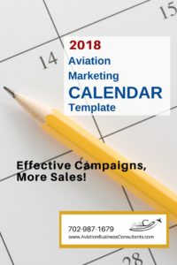How to avoid desperation in aviation sales - our calendar template