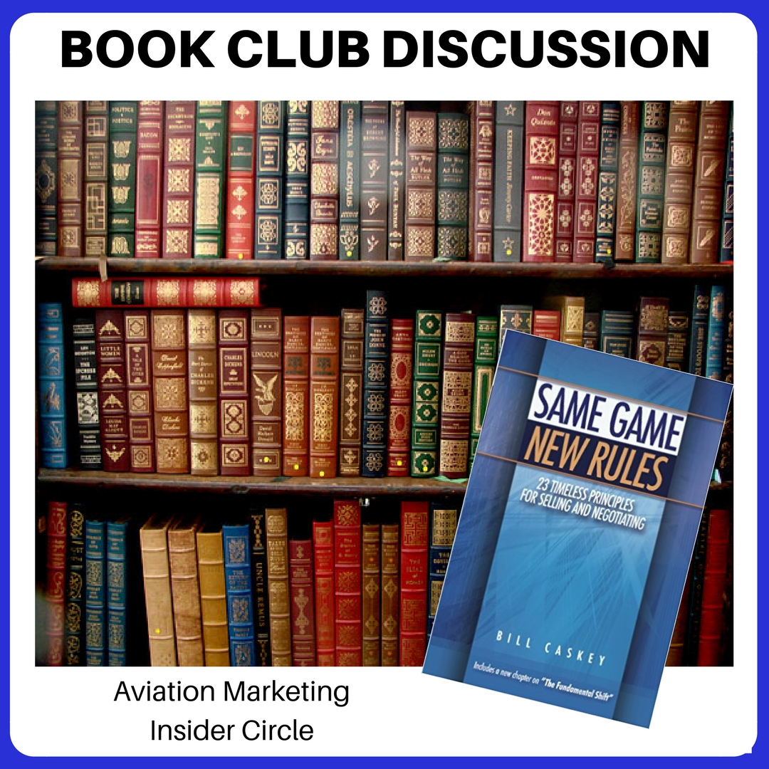 Book Club Discussion – Aviation Sales – Same Game, New Rules