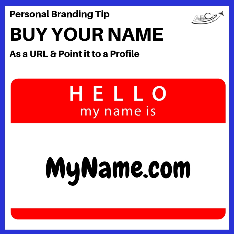 Aviation Personal Branding Tip
